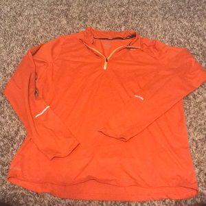 Orange Nike dri fit quarter zip